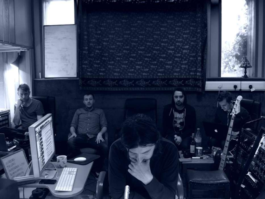 65daysofstatic in the studio earlier this year.