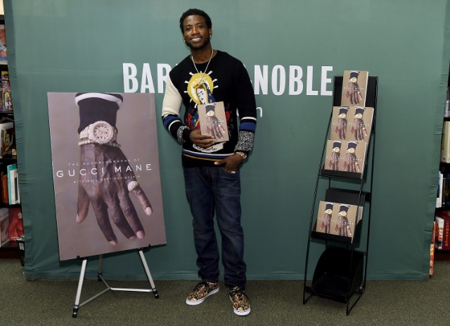 Gucci Mane at his book signing in a New York Barnes & Noble.